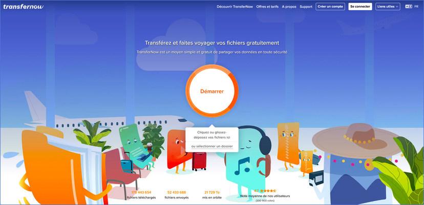 transfernow interface